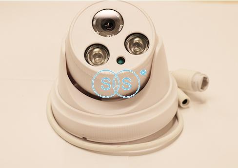 LED双灯POE有线半球形摄像头